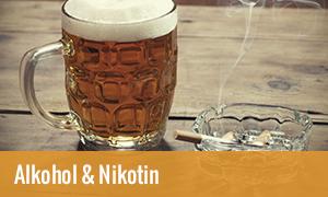 Reizdarmsyndrom Ursachen: Alkohol und Nikotin