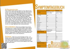 Symptomtagebuch Deckblatt